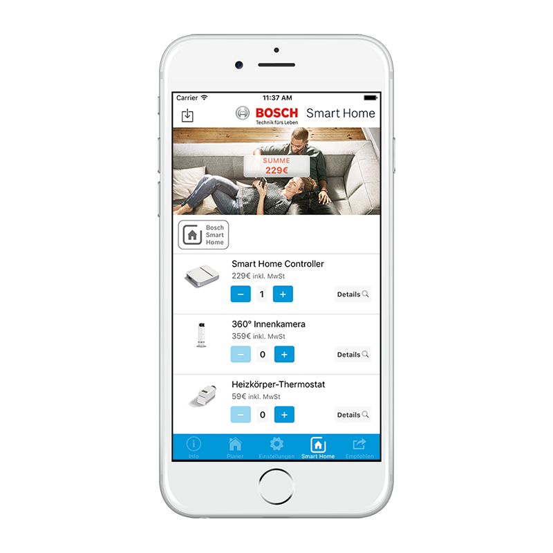 VECTIS Planer BOSCH Smart Home
