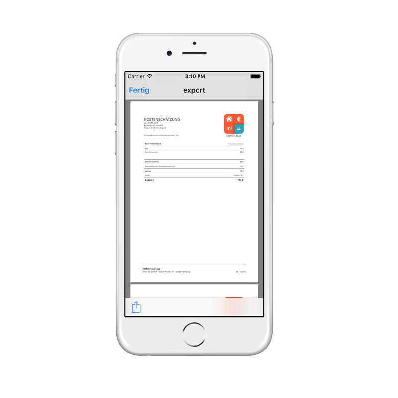VECTIS App PDF Report